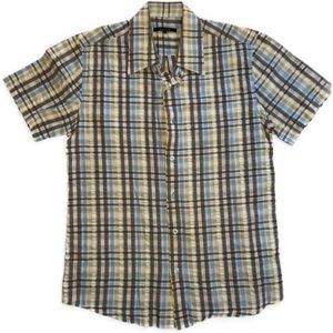 2/$30🌼 Azulu Cotton Plaid Short Sleeve Shirt - S